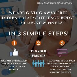 [Eleve Aesthetic Clinic] WE ARE GIVING AWAY FREE INDIBA FACE & BODY TREATMENT!