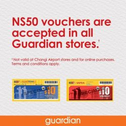 [Guardian] Calling all eligible gentlemen, come shop for all your daily essentials with your NS50 vouchers accepted in all Guardian stores**