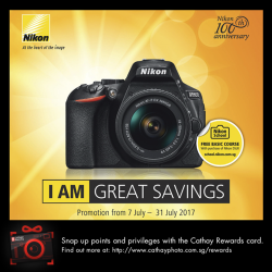 [Cathay Photo] Starting from today, enjoy greater savings on selected Nikon​ cameras and lenses.