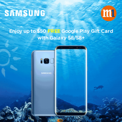 [M1] Get a FREE $30 /$50 Google Play Gift Card when you sign up or re-contract with Samsung Galaxy S8 /