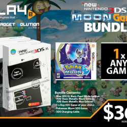 [GAME XTREME] New 3DS XL Moon Bundle XL【PROMO DURATION】 While Stocks Last【DETAILS】 Been hearing about this Pokemon thing for the