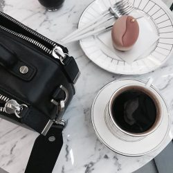 [SocietyA - Shoes & Accessories Lounge] How to deal with Mondays: Plenty of coffee, your favourite treat and a fuss-free, highly organized travel bag.