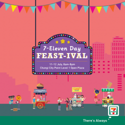 [7-Eleven Singapore] Celebrate 7-Eleven with us, tomorrow and Wednesday at Changi City Point, Singapore!