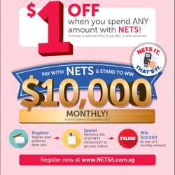 [Miniso] Enjoy $1 instant off when you pay with NETS at MINISO, no minimum spend required!