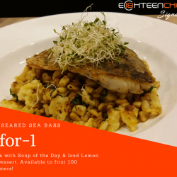 [Eighteen Chefs] Enjoy our 1-for-1 deal at Eighteen Chefs Signature!