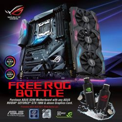 [ASUS] Redeem a FREE ROG Bottle when you purchase an ASUS X299 Motherboard together with NVIDIA GEFORCE® GTX 1060 and above