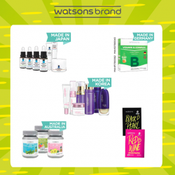 [Watsons Singapore] Grab your favourite Watsons brand products & enjoy amazing buy 1 get 1 free deals!