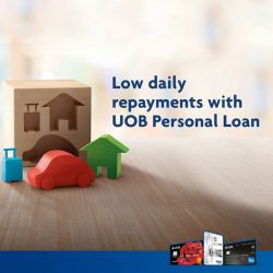 [UOB ATM] Fit your needs with low daily repayments from S$0.