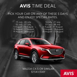 [AVIS] Avis Time Deal | Fall within these travel periods?