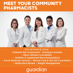 [Guardian] Come meet our friendly Guardian pharmacists at Toa Payoh Lorong 6 Blk 106 today!
