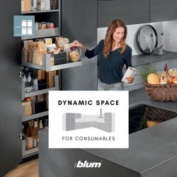 [Blum & Co] Kitchen Planning 101: DYNAMIC SPACE for ConsumablesThe Consumable Zone is used for storing provisions.