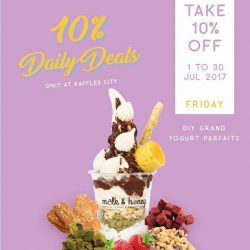 [Milk & Honey] Celebrate TGIF with 10% off DIY Grand yogurt parfaits!