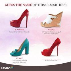 [OSIM] Now that we have shared the name of some heels, do you know the name of this classic heel?