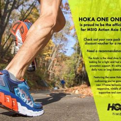 [World of Sports] We are pleased to share that HOKA ONE ONE is the official footwear for MSIG 50 Action Asia Singapore!