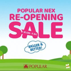 [POPULAR Bookstore] Get more out of the BIGGER and BETTER POPULAR NEX Re-Opening Sale!