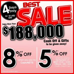 [Best Denki] 4 Days BEST Sale @ BEST Denki Ngee Ann City 05-01/04 starting from today to 17 July 2017!