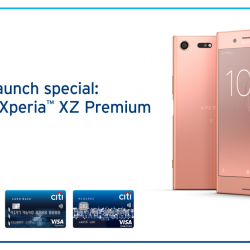 [Citibank ATM] Get your hands on the new Sony Xperia™ XZ Premium.