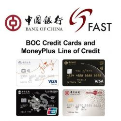 [BANK OF CHINA ATM] FAST Service is now available for BOC Credit Cards and MoneyPlus!