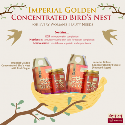 [Eu Yan Sang] The Imperial Golden Concentrated Bird's Nest is a woman's favourite in enhancing the skin and complexion.