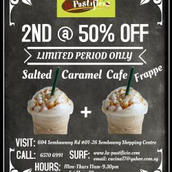 [LA PASTIFICIO] New drink addition: Cafe Salted Caramel Frappe!