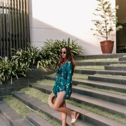 [Aldo] Perfect summer look from Beccabeczten as she teams a carefree romper with the Brittny slip-on minimalist sandals