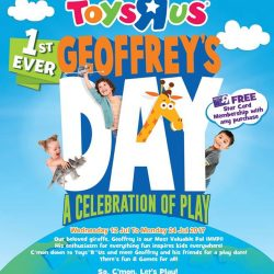 "[Hard Rock Café] Join us as we hangout and meet Geoffrey and Friends this Saturday and Sunday at Toys ""R"" Us VivoCity!"