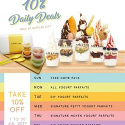 [Milk & Honey] Enjoy 10% off selected yogurt parfaits with our 10% Daily Deals this July at our Raffles City outlet (B1-70)!