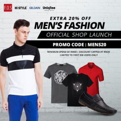 [HI STYLE] HI STYLE Official Shop Launch at SHOPEEEnjoy Men's Fashion Deals Get 20% off by using this Promo Code: