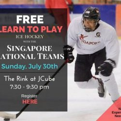 [THE RINK] FREE ice hockey trial, learn the basic and play with Singapore National Teams!