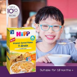 [10 10 Mother & Child Essentials] HiPP Organic Kids 7-Grain Muesli is a safe and balanced diet for your child made of 83% organic whole
