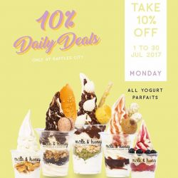 [Milk & Honey] Chase 'em Monday blues away with 10% off ALL yogurt parfaits!