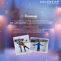 [ColdWear] Giveaway!