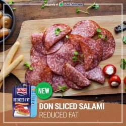 [Cold Storage] To add some flavour to your meals, we recommend the new Don Sliced Salami Reduced Fat.