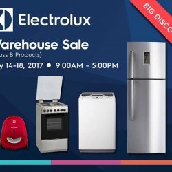[Electrolux] Enjoy great deals up to 80% off on Home Appliances at the Electrolux Warehouse Sale from July 14 to 18!