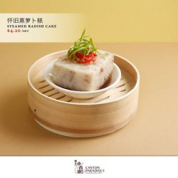 [Paradise Group] Savour our lusciously soft Steamed Radish Cake (also known as Loh Bak Goh in Cantonese).