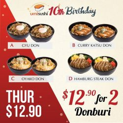 [UMISUSHI Singapore] umisushi10thBirthday 🎂 2 for $12.
