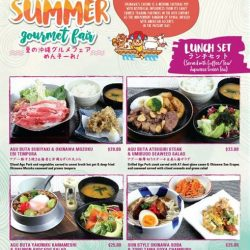 [Sun with Moon Japanese Dining & Café] Our Okinawa Summer Gourmet Fair returns this year with a new menu items, as well as a Lucky Draw Contest!
