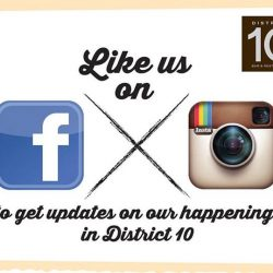 [DISTRICT 10 BAR TAPAS RESTAURANT] Like us on our respective Facebook pages- District 10 Bar Tapas Restaurant (The Star Vista), District 10 Bar & Restaurant (UE