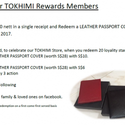 [TOKHIMI] Exclusively for TOKHIMI Rewards MembersGift with Purchase Spend minimum S$100 nett in a single receipt and Redeem a