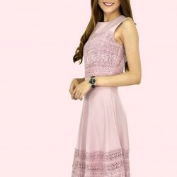 [MOONRIVER] Linda Laces Fit and Flare Dress - Available in Black and Pink ColorUp to 50% for regular items and up