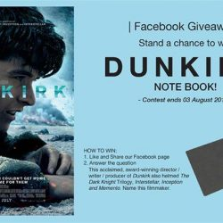 [Filmgarde Cineplex] Stand a chance to win Dunkirk Movie Premiums!
