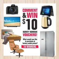 [Harvey Norman] Here is your chance to WIN a $10 Harvey Norman voucher!