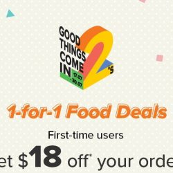 Honestbee: Enjoy 1-for-1 Food Deals on their 2nd Anniversary + Get $18 OFF Your First Order