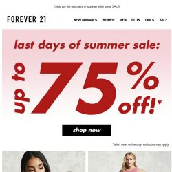 [FOREVER 21] Up to 75% off?? BYE SUMMER.