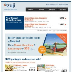 [Zuji] 3D2N Packages to Bangkok, Hong Kong & more fr $142.