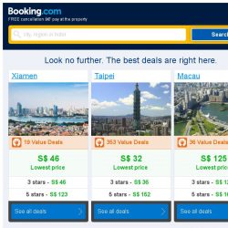 [Booking.com] Xiamen and Taipei – great last-minute deals from S$ 32