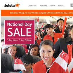 [Jetstar] 🎉 Hong Kong is on sale! Faster chope your National Day sale fares now.