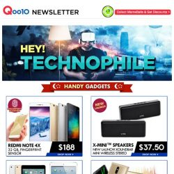 [Qoo10] Calling Out For All Gadget Lovers~ Few More Hrs Left To Shop For The Lowest Deal!