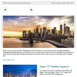 [Cathay Pacific Airways] 5 days travel fair deals from SGD338 all-in