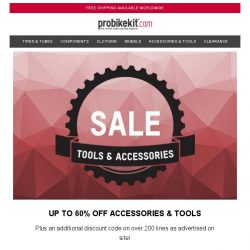 [probikekit] Up to 60% off Accessories & Tools...